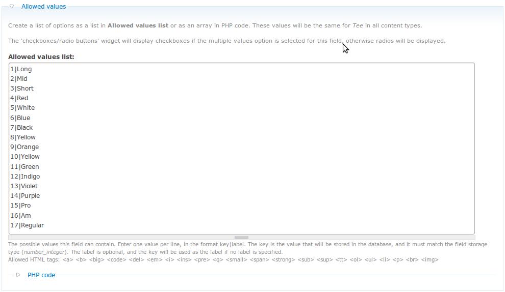 Return Drupal CCK Integer Field Allowed Values List as Array | Tyler